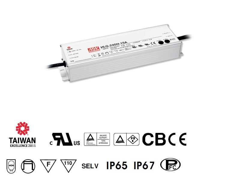 LED-Einbaunetzteil 12V DC, 192W, 16A, IP65, F, wasserdicht