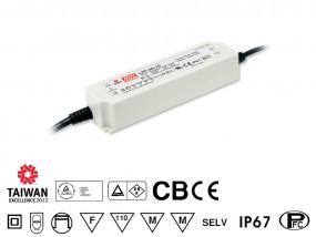 LED-Möbeleinbaunetzteil 24V, 40W, 1,67A, F, MM, IP67, wasserdicht