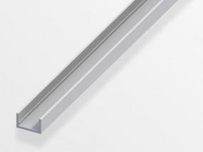 Alu U-Profil 10x11,5x10x1,5mm eloxiert