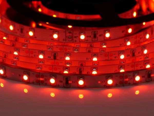 LED-Streifen 60LEDs/m, rot 12V 5m Rolle