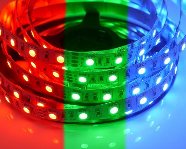 RGB LED-Streifen 60LEDs/m, 10,8W/m, 24V 5m Rolle