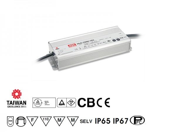 LED Netzteil Möbeleinbau 24V DC, 320W, 13.3A, F, MM, IP67, Poti/1-10V dimmbar