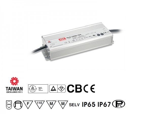 Netzteil 24V DC, 320W, 13.3A, F, MM, IP67