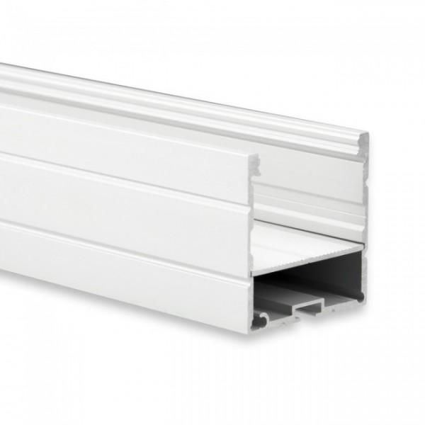 Alu U-Profil mit Einschub und Abdeckung PC opal 40x40mm 1m