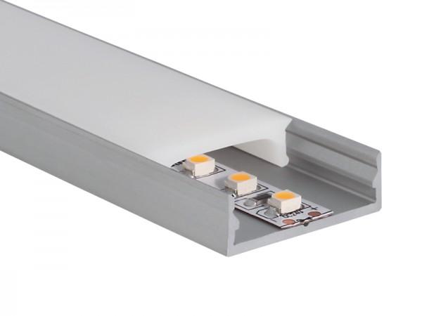 aluminiumprofil u profil extra flach zubeh r led licht led emotion. Black Bedroom Furniture Sets. Home Design Ideas