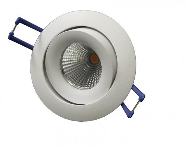 LED-Einbaustrahler schwenkbar, rund, weiß