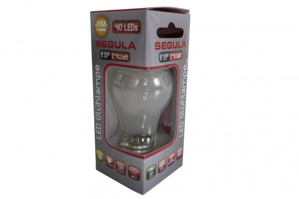 Segula LED Glühlampe, E27, 2,4W, matt