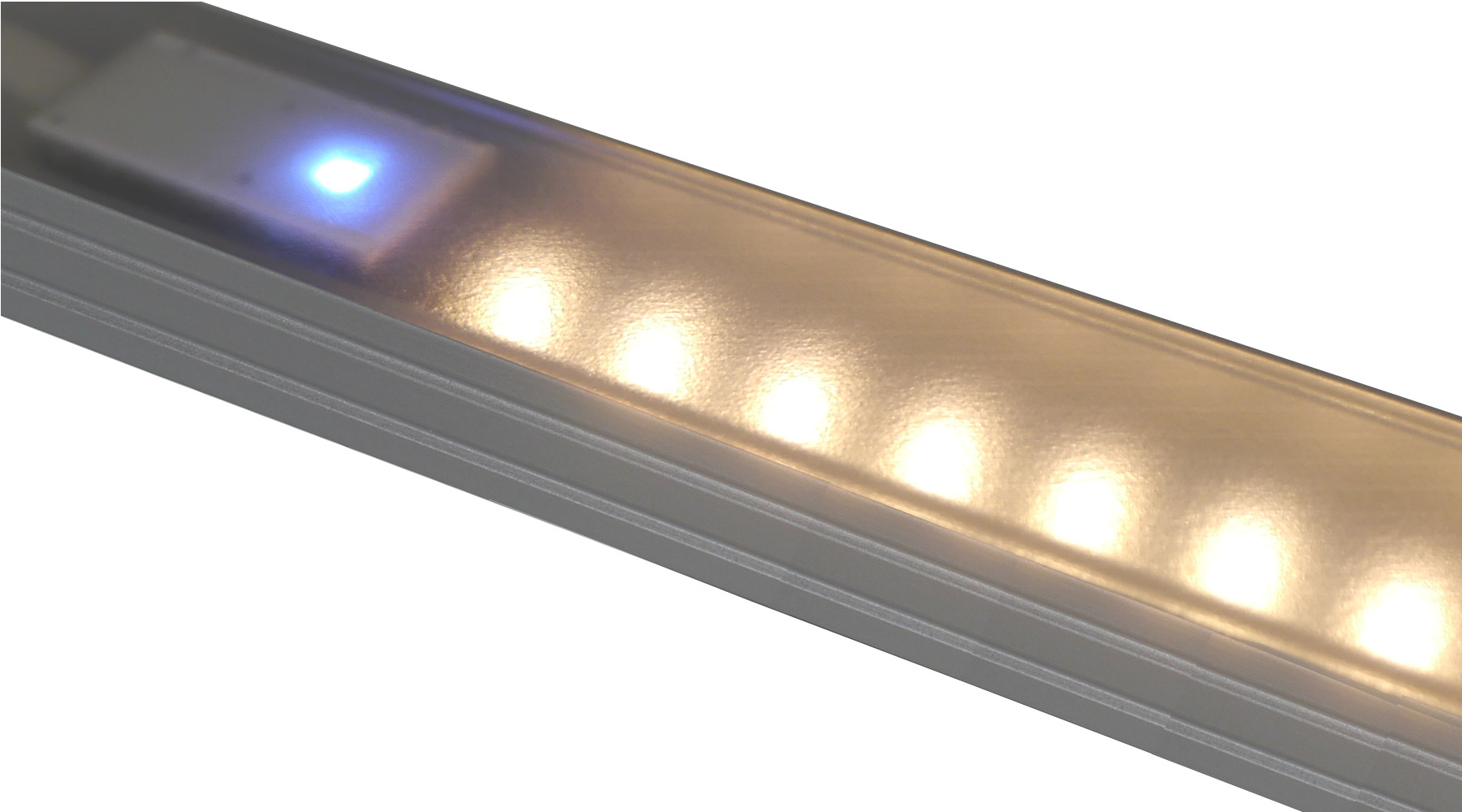 power LED Lichtleiste 2700K warmweiß extrem leuchtstark schmales ...