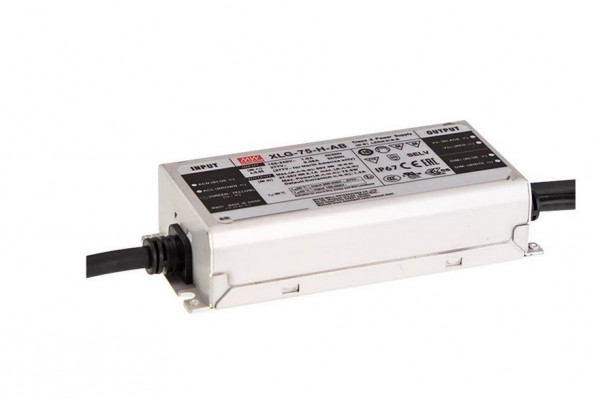 LED-Möbeleinbaunetzteil 24V DC, 75W, 3.1A, IP67