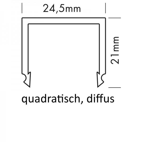 PMMA-Abdeckung M quadratisch diffus
