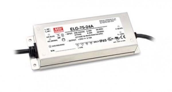 LED-Möbeleinbaunetzteil 24V DC, 75W, 3,15A, IP65, dimmbar
