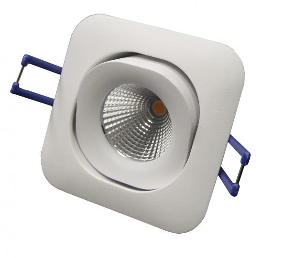 LED-Einbaustrahler schwenkbar, quadratisch, weiß