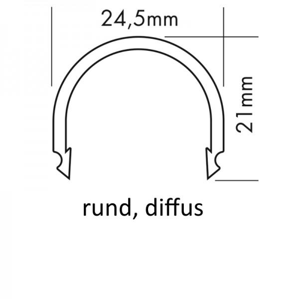 PMMA-Abdeckung M rund diffus