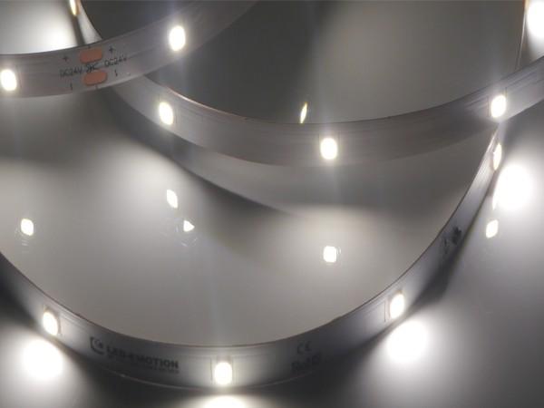 Premium Backlight LED-Streifen, 5000K tageslichtweiß, 390lm/m, 3,8W/m, 28LEDs/m 24V, 5m Rolle