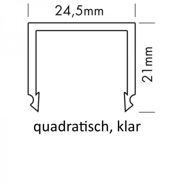 PMMA-Abdeckung M quadratisch klar