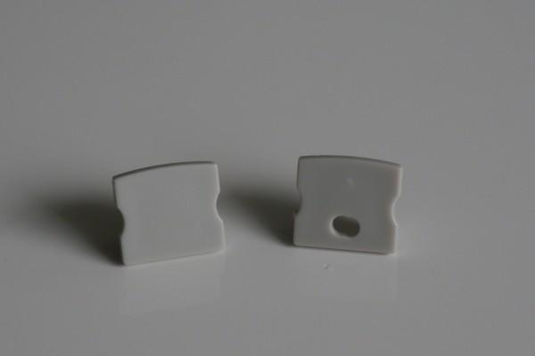Endkappen-Set LED-Alu-Profil C-Line hoch Aufbau