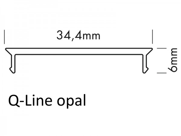 PMMA-Abdeckung Q bündig opal