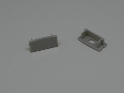 Endkappen-Set LED-Alu-Profil D-Line flach Aufbau