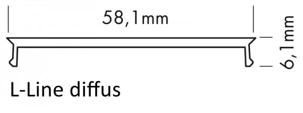 Abdeckung L-Line diffus