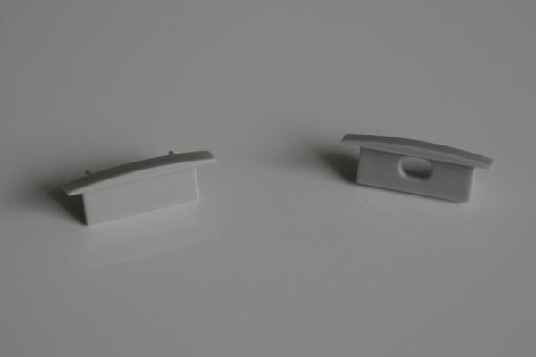 Endkappen-Set LED-Alu-Profil D-Line flach Einbau