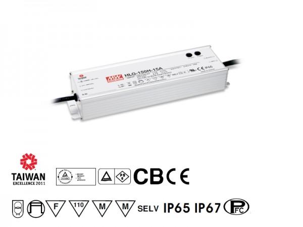 LED-Möbeleinbaunetzteil 12V DC, 150W, 12,5A, F, MM, IP67, Poti/1-10V dimmbar, wasserdicht