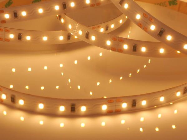 HighCRI LED-Streifen, 2700K warmweiß, 720lm/m, 9,6W/m, 120LEDs/m, 24V, 5m Rolle