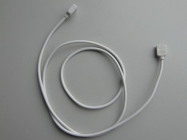 1m Verlängerungskabel weiß mit 4-poliger Buchse für 10mm Streifen
