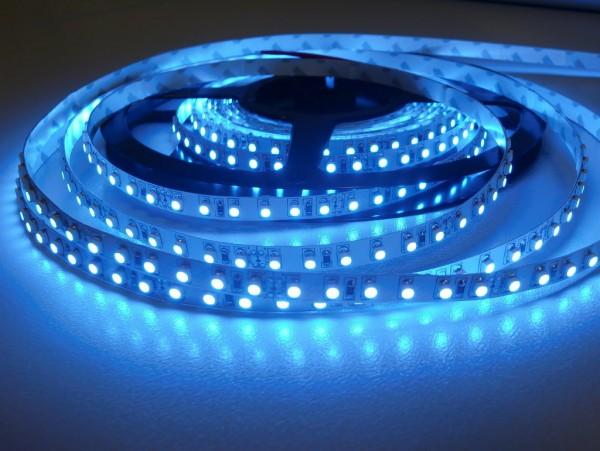 LED-Streifen 120LEDs/m, blau 24V 5m Rolle
