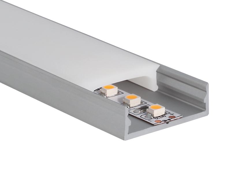 aluminiumprofil u profil extra flach zubeh r led licht. Black Bedroom Furniture Sets. Home Design Ideas