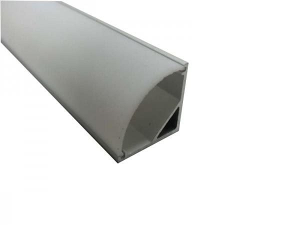 LED-Alu-Profil E-Line Slim mit Abdeckung