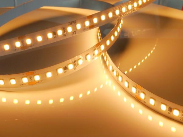 Premium HD LED-Streifen, 2700K warmweiß, 1944lm/m, 19,2W/m, 140LEDs/m, 24V