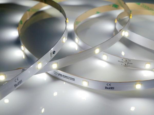 Premium Backlight LED-Streifen, 6500K purweiß, 467lm/m, 3.8W/m, 28LEDs/m, 24V