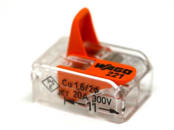 2er Wago Verbindungsklemme 0,08-4mm²