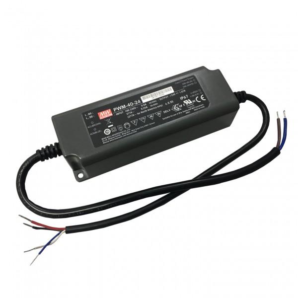 LED-Möbeleinbaunetzteil 24V, 40W, 1.67A, PWM, MM, IP67, 0-10V dimmbar
