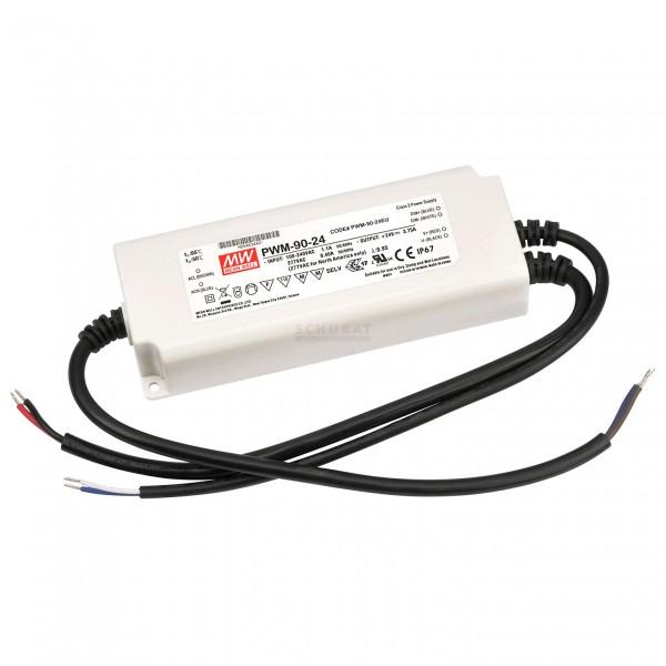 LED-Möbeleinbaunetzteil 24V, 90W, 3.75A, PWM, MM, IP67, 0-10V dimmbar