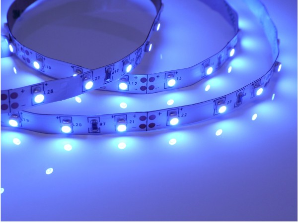 LED-Streifen 60LEDs/m, blau 12V