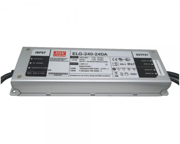 LED-Möbeleinbaunetzteil 24V DC, 240W, 10A MM, IP65, ENEC, DALI-fähig