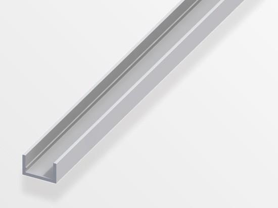 k hlendes aluminium u profil ohne abdeckung zum einkleben von led streifen led emotion. Black Bedroom Furniture Sets. Home Design Ideas