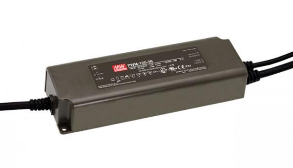 LED-Möbeleinbaunetzteil 24V, 120W, 5A, PWM, MM, IP67, DALI dimmbar