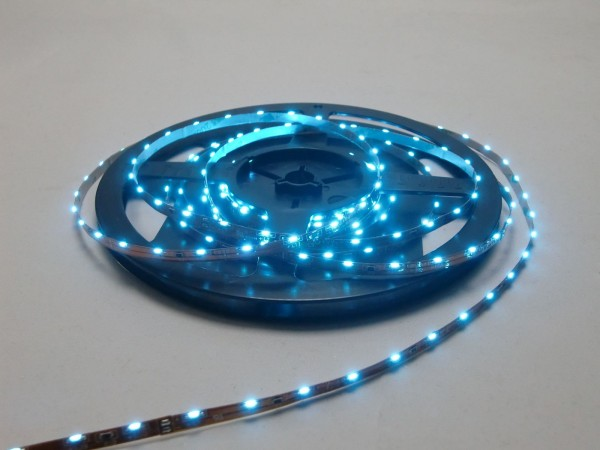 LED-Streifen Side-View 300 LEDs, 5m Rolle, blau 12V