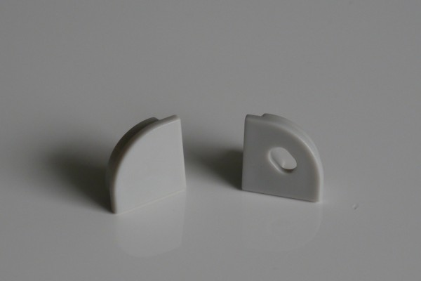 Endkappen-Set LED-Alu-Profil E-Line Slim rund