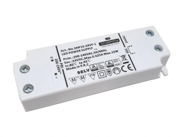 LED Netzteil flach Möbeleinbau 15W 24V