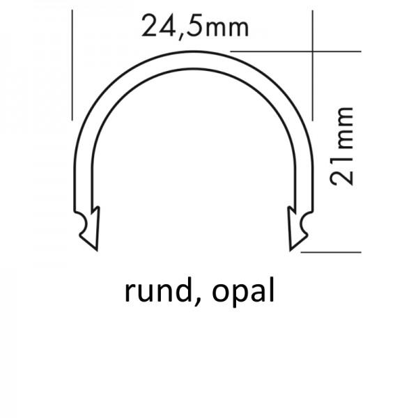 PMMA-Abdeckung M rund opal