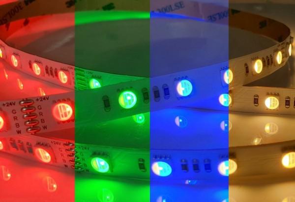 RGB+2700K 4in1 LED-Streifen 60LEDs/m 24V 17,2W/m