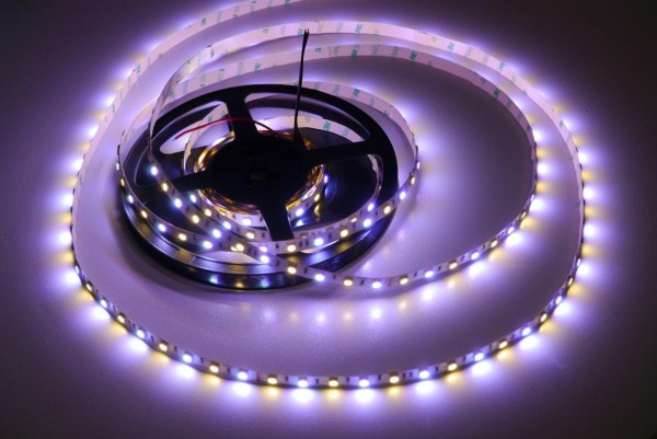 RGB+WW Power LED-Streifen 60LEDs/m 24V 5m Rolle
