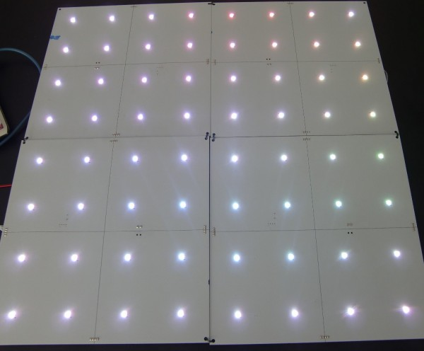 LED-DMX-Panel 250x250mm² 16 Pixel RGB