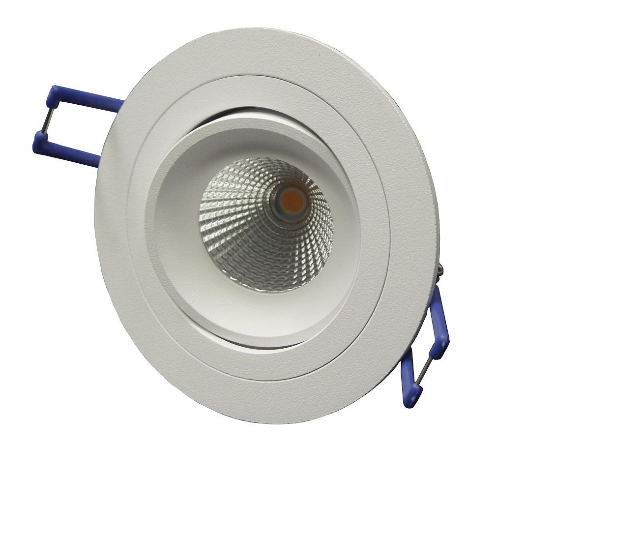 LED-Strahler schwenkbar, rund, weiß | LED Einbaustrahler mittel ...