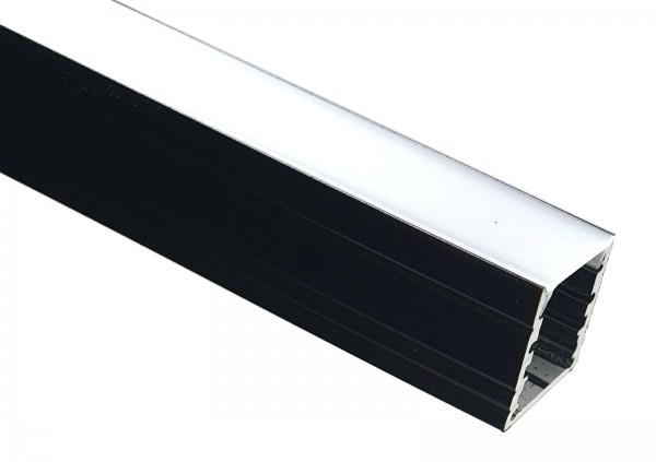 LED-Alu-Profil C-Line hoch schwarz