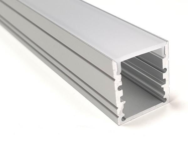 LED-Alu-Profil C-Line hoch opal bruchsicher
