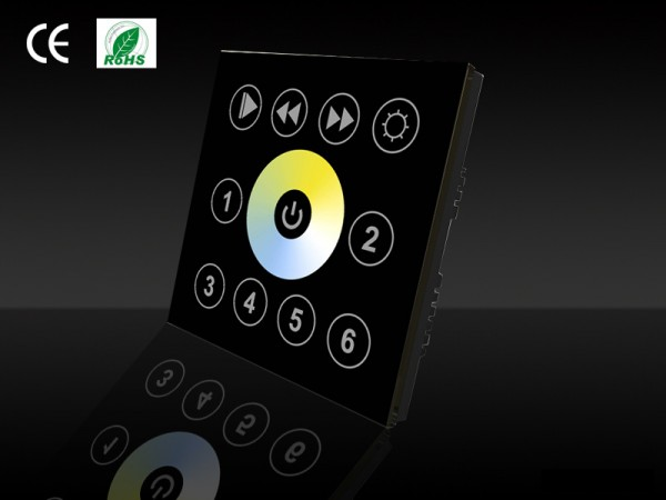 Full-White Touchpanel DMX schwarz Restposten